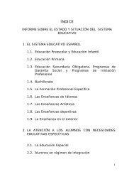 Informe sobre el estado y situación del sistema educativo - FETE-UGT