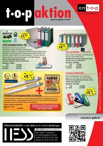 PDF zum Katalog - Hess GmbH
