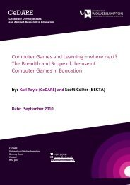 Computer Games and Learning where next finalv2 - University of ...