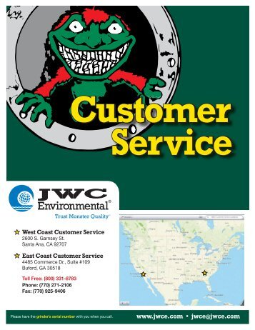 Customer Service Center - JWC Environmental