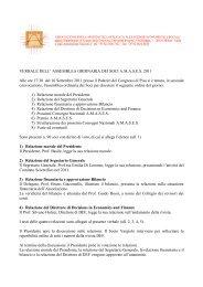 VERBALE DELL' ASSEMBLEA ORDINARIA DEI SOCI A.M.A.S.E.S. ...