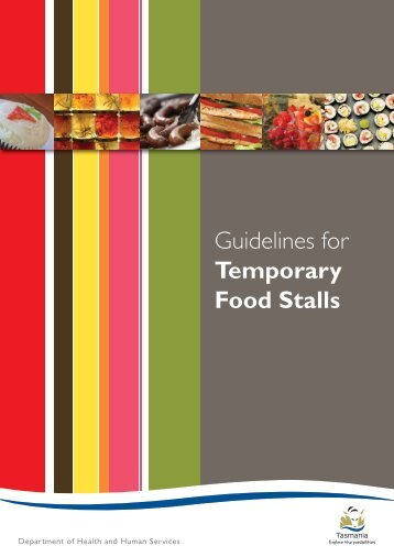 Guidelines for Temporary Food Stalls - Hobart City Council