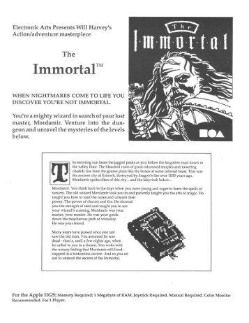BRCC - The Immortal Manual - Virtual Apple