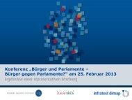 Bürger und Parlamente – Bürger gegen Parlamente?