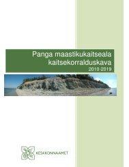 Panga maastikukaitseala kaitsekorralduskava - Keskkonnaamet