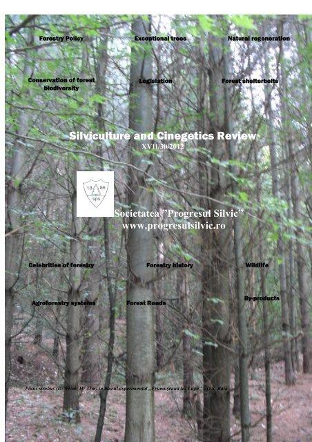 Silviculture And Cinegetics Review Societatea Progresul Silvic