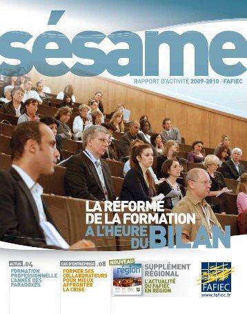 Rapport d'activité 2009 - 2010 - Fafiec