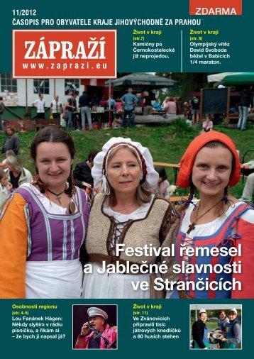 Festival řemesel a Jablečné slavnosti ve Strančicích - Zápraží