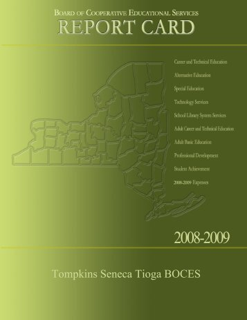 State Testing Programs for All Component Districts - tst boces