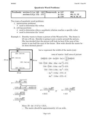 quadratic word problems worksheets word problems involving quadratic equationsquadratic. Black Bedroom Furniture Sets. Home Design Ideas