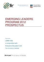 EMERGING LEADERS PROGRAM 2012 PROSPECTUS - LGMA (SA)