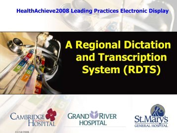 A Regional Dictation and Transcription System (RDTS) - Point Alliance