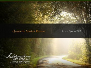 Quarterly Market Review - Independence Advisors