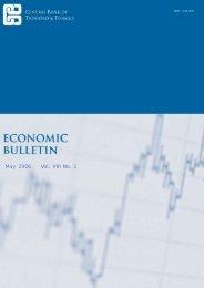 May 2006 Vol. VIII No. 1 - Central Bank of Trinidad and Tobago