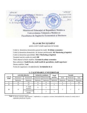 362.1 Marketing şi Logistică - Universitatea Tehnică a Moldovei