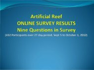 Artificial Reef Survey Results - Flower Garden Banks National ...