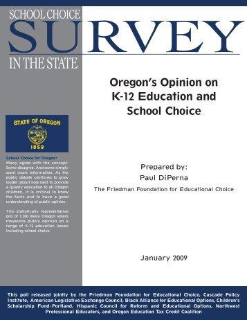 Survey - Cascade Policy Institute