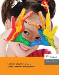 Annual Report 2010 - Clariant
