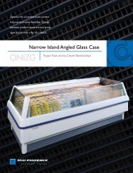 Narrow Island Angled Glass Case - Hill Phoenix