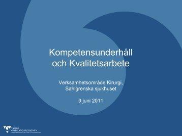 Kompetensunderhåll och Kvalitetsarbete - verksamhetsområde ...