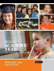 Activities Calendar - White Bear Lake Area Schools