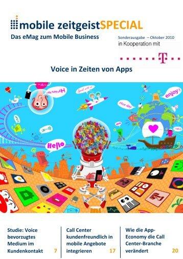 Voice in Zeiten von Apps - Mobile Zeitgeist