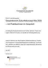 Gesamtbericht Zukunftskonzept Kita 2020 – mit ... - Frühe Chancen