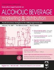 Executive Legal Summit on ALCOHOLIC BEVERAGE