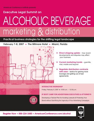 Executive Legal Summit on ALCOHOLIC BEVERAGE
