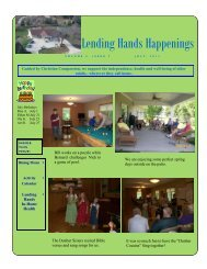 Lending Hands Happenings - WesleyLife