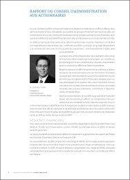rapport du conseil d'administration aux actionnaires - Power ...
