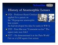 History of Anamorphic Lenses - Schneider Optics