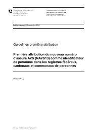 Guidelines première attribution Première attribution du nouveau ...
