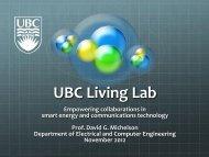 UBC Living Lab - Corrente