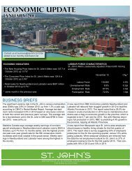 Economic Update January 2013 - City Of St. John's