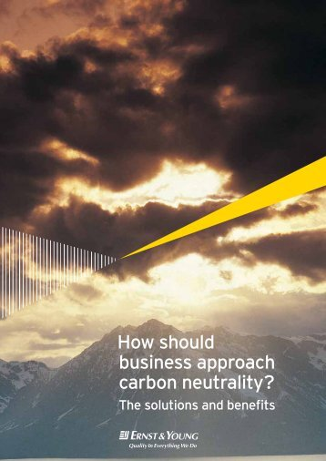 How should business approach carbon neutrality?