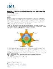 MBA 2010 Elective: Service Marketing and Management - Gremler.net