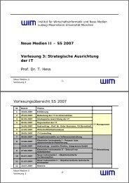 Strategische Ausrichtung - Institut für Wirtschaftsinformatik und neue ...