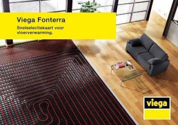 Viega Fonterra Snelselectiekaart vor vloerverwarming