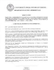 universita degli studi di torinio - Fisica Sperimentale - Università ...