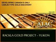 RACKLA GOLD PROJECT – YUKON - gowebcasting