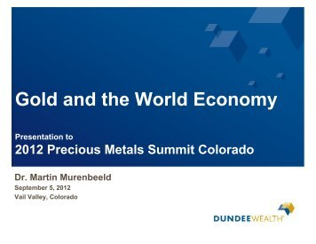 Gold and the World Economy - gowebcasting