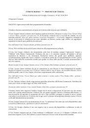 Approvazione Linee programmatiche di mandato - Comune di Dolo
