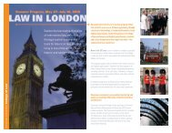 LAW IN LONDON - Syracuse University College of Law