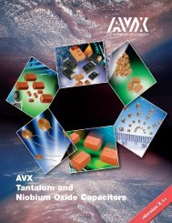 TAJ Series Standard Tantalum - AVX