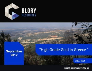 """""""High Grade Gold in Greece """" - gowebcasting"""