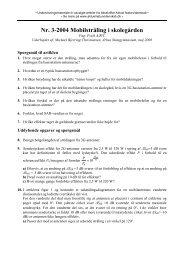 Nr. 3-2004 Mobilstråling i skolegården - Aktuel Naturvidenskab