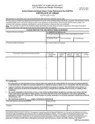 CERTIFICATE OF ORIGIN - - - - U.S. Customs and Border ... - Forms