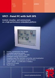 VPCT - Panel PC with Soft SPS - TR Electronic