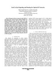 End-to-end signaling and routing for optical IP networks - Carleton ...